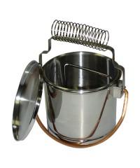 DK11012 Кистемойка, нержавеющая сталь, диаметр 15,5 см, высота 14см