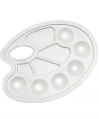 DK18418 Палитра пластиковая, круглая,пазмер 23.5X17см,10 ячеек