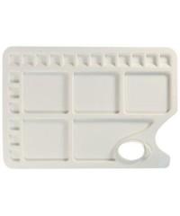 DK18517 Палитра пластиковая, прямоугольная, размер 34x23,4см, 23 ячейки