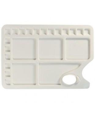 Палитра пластиковая, прямоугольная, размер 34x23,4см, 23 ячейки DK18517
