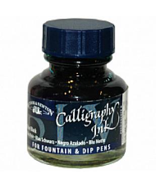 1111034 Тушь для каллиграфии (синяя крышка), 30мл, виноградная черная