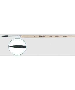 Кисть круглая белка № 3,  1412   длинная ручка, лак, Roubloff  1412