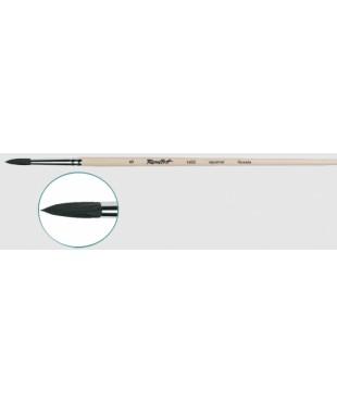 Кисть круглая белка № 14, длинная ручка, лак, Roubloff, 1452