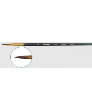 Кисть колонок круглая № 4, ручка черная матовая короткая 1117