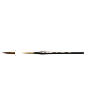 Колонок круглая № 00, ручка черная матовая короткая 111F