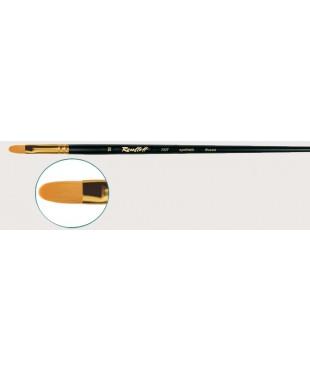 Кисть Roubloff синтетика овальная № 4, ручка длинная черная матовая, 1337