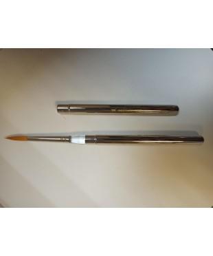 1110 Кисть синтетика круглая 2 Реставратор, складная в металлическом корпусе. 1110012