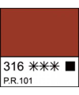 316 Краска темперная МАСТЕР-КЛАСС Железная красная, туба 46 мл