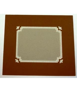100103 Фигурное паспарту, набор, размер 27,5х32,5 см
