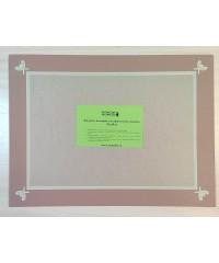 98025 Фигурное паспарту, набор, размер 35х47 см