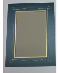 Фигурное паспарту, набор, размер 29х38 см, 800501