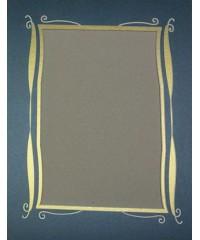 Фигурное паспарту, набор, размер 29х38 см, 800502