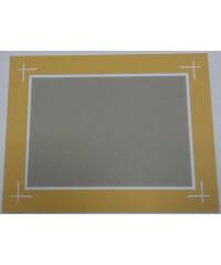 Фигурное паспарту, набор, размер 30х39 см, 800901
