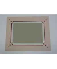801001 Фигурное паспарту, набор, размер 35х44 см