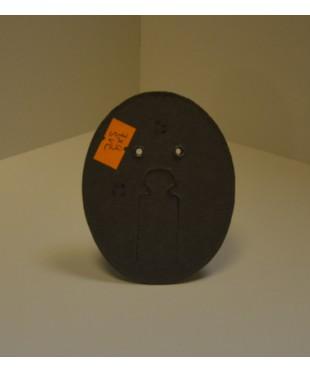 Фотозадник овальный 7х9 см , фиброкартон, SVC