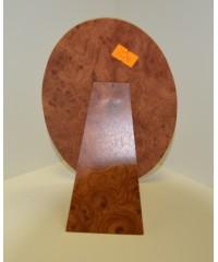 SVR фотозадник овальный МДФ. цвет корень капа 18х13 см