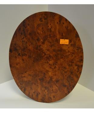 Фотозадник овал  для рамы, МДФ, цвет - корень капа, 20х25 см, SVR