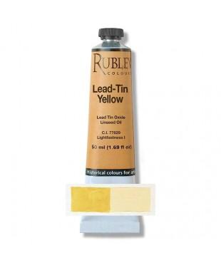 Краска масляная 820-341  Lead-Tin yellow light,  50 мл. РУБЛЕВ