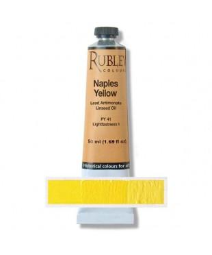 Краска масляная 820-355  Naples yellow,  50 мл. РУБЛЕВ