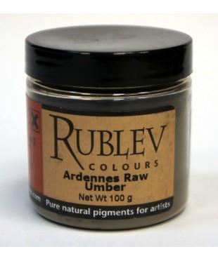 Пигмент RUBLEV  460-4010 Ardennes Raw Umber 100 г.