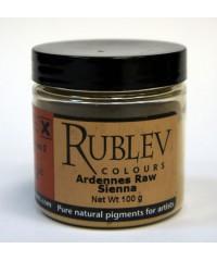 Пигмент RUBLEV 460-3610  Ardennes Raw Sienna 100 г