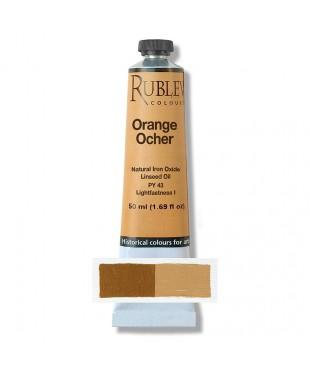 820-401 Краска маслянная Orange Ocher 50 мл. РУБЛЕВ
