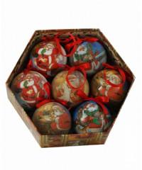 198-75186C/S-7 Набор новогодние шары 7 шт.