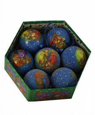 198-75188C/S-7 Набор новогодние шары 7 шт.