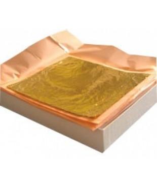 Сусальное золото 8x8см, 22 карат, 25 листов